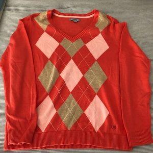Izod Sweaters - IZOD V-neck argyle golf sweater
